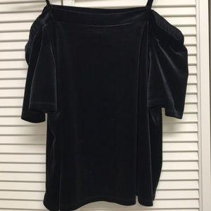 Black Velvet Off Shoulder Shirt